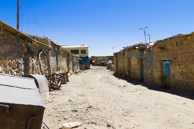 Potosi mijnwerkers huizen bekijken, bolivia. boliviaanse mijnstad