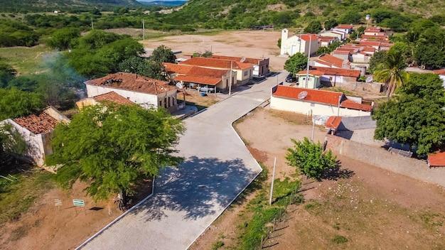 Povoado barra, rio grande do norte, brazilië - 12 maart 2021: stadscafé. stad van barra stad waar de film bacurau werd opgenomen