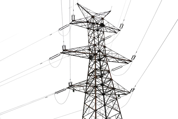 Power line op witte achtergrond