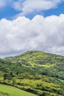 Prachtig grasland, prairie in taoyuan valley, caoling mountain trail loopt over de top van mt. wankengtou in taiwan.