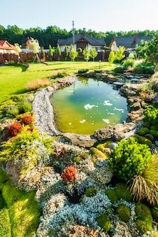 Prachtig landschap met prachtige planten