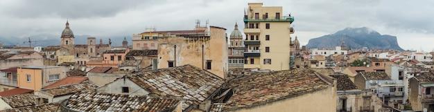 Prachtig panoramisch uitzicht op palermo, sicilië, italië