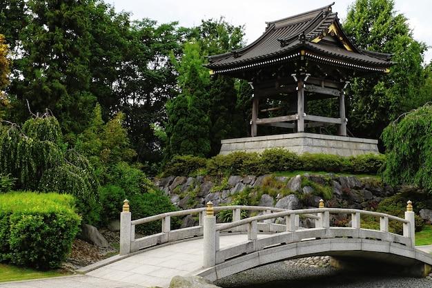Prachtig shot van eko-haus der japanischen kultur ev düsseldorf duitsland