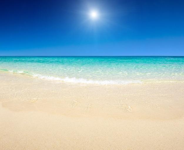 Prachtig strand en tropische zee Premium Foto