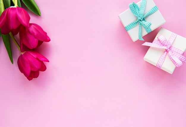 Prachtig tulpenboeket