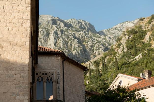 Prachtig uitzicht op de reis in montenegro