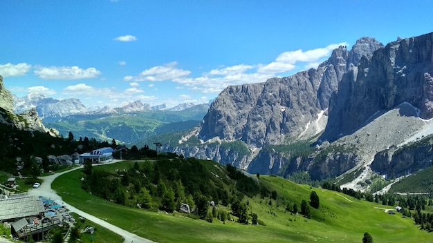 Prachtig uitzicht op de top cadini di misurina in nationaal park tre cime di lavaredo.