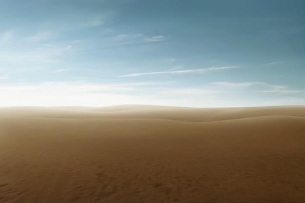Prachtig uitzicht op de woestijn