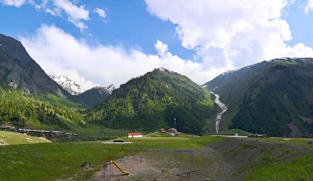 Prachtig uitzicht op heuvels landschap