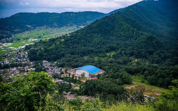 Prachtig uitzicht op ladscape in de zomer in kathmandu, nepal