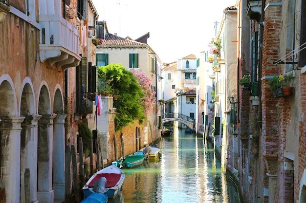 Prachtig uitzicht over venetië, italië