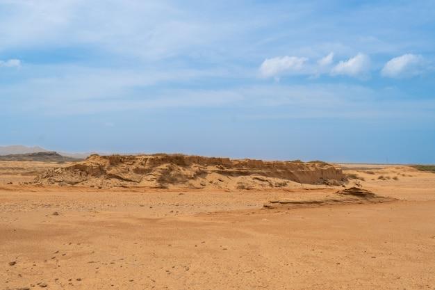Prachtig uitzicht, woestijnzandberglandschap, zandduinen