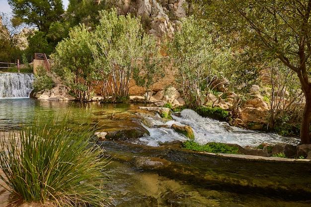 Prachtige algar watervallen, alicante spanje.