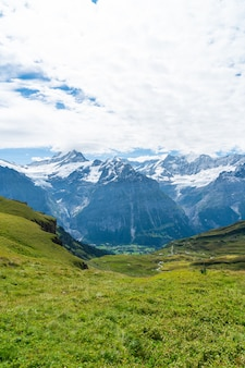 Prachtige alpen berg in grindelwald, zwitserland