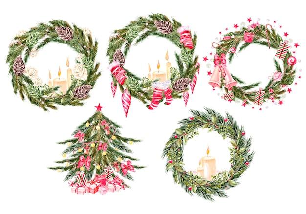 Prachtige aquarel kerstkaart