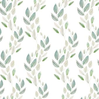 Prachtige aquarel naadloze patroon met kruiden. illustratie