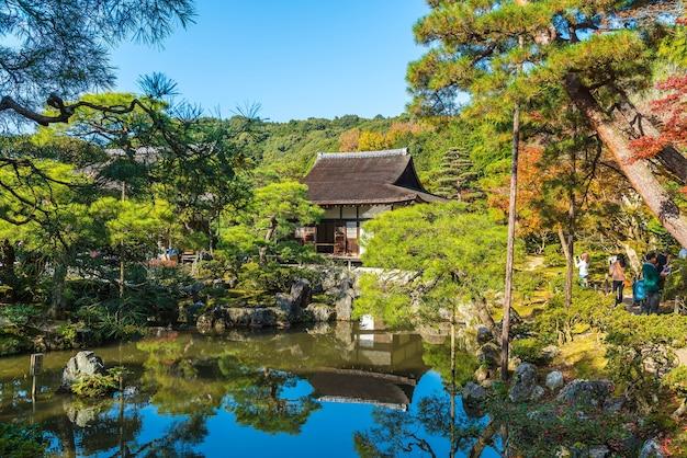 Prachtige architectuur in de silver pavillion ginkakuji-tempel