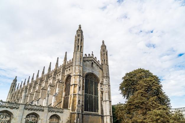 Prachtige architectuur in king's college chapel in cambridge, vk