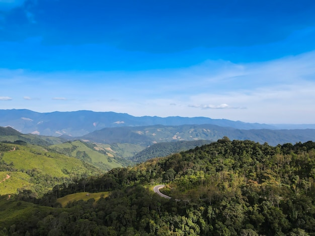 Prachtige berg in de provincie nan