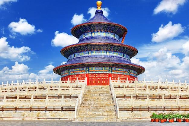 Prachtige en verbazingwekkende tempel - tempel van de hemel in peking, china