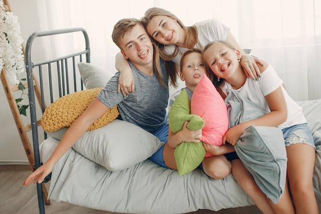 Prachtige familie veel plezier thuis
