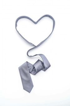 Prachtige grijze stropdas