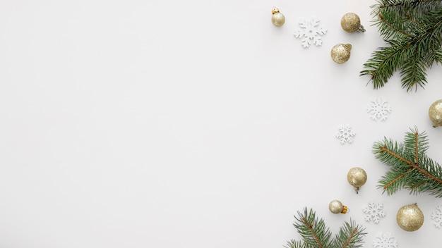 Prachtige kerstavond concept met kopie ruimte