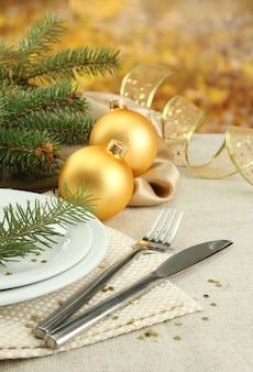 Prachtige kerstsetting, close-up