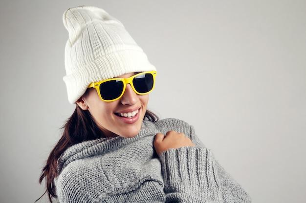 Prachtige koud snuggle freezing warmte