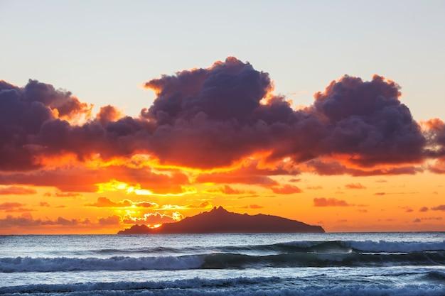 Prachtige landschappen het ocean beach, nieuw-zeeland.