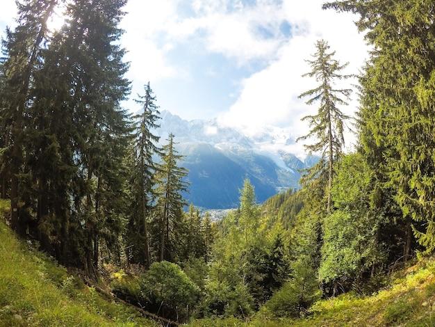 Prachtige landschappen van frankrijk chamonix