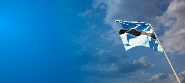 Prachtige nationale vlag van botswana met lege ruimte.