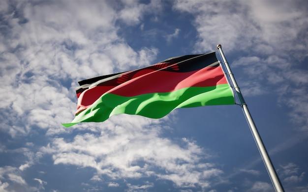 Prachtige nationale vlag van malawi wapperen