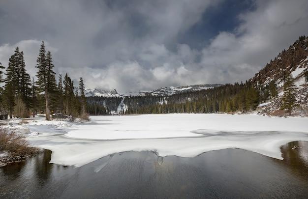 Prachtige natuurscène in de lentebergen. sierra nevada landschappen.
