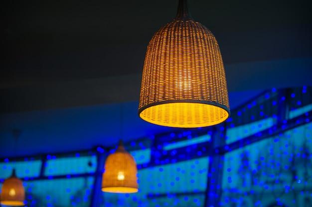 Prachtige rieten lamp