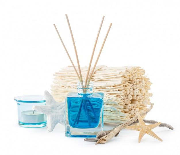 Prachtige spa-samenstelling met aromadiffuser