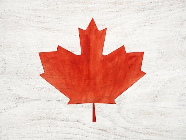 Prachtige tekening van de canadese vlag