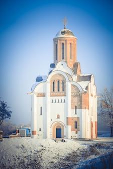 Prachtige tempel van historische reconstructie