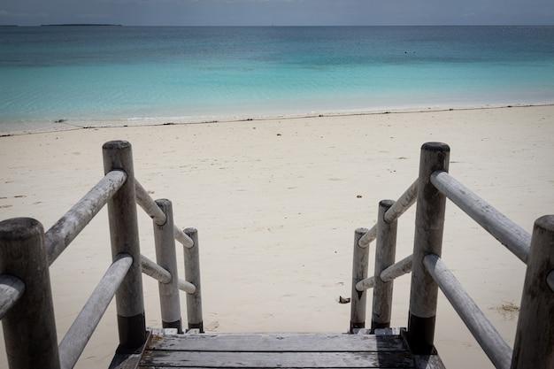 Prachtige tropische stappen in turquoise zeewater