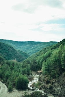 Prachtige vallei landschap met een rivier