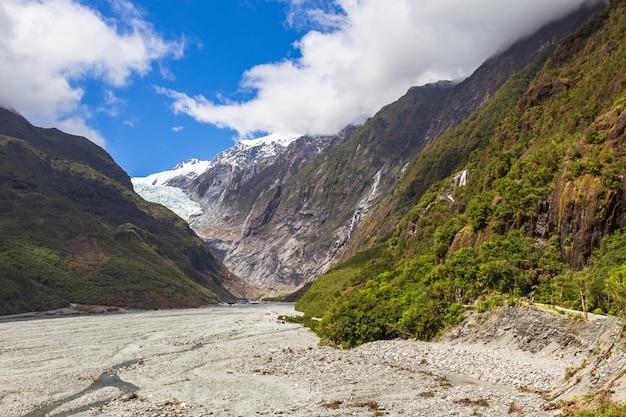 Prachtige vallei van franz joseph glacier nieuw-zeeland