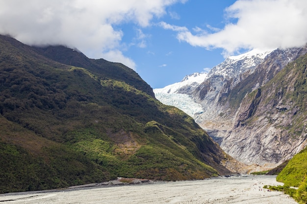 Prachtige vallei van franz joseph glacier south island, nieuw-zeeland