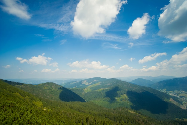 Prachtige weiden op bergen