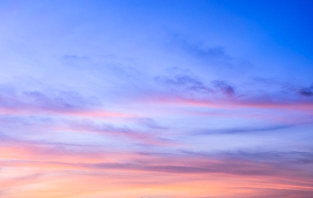 Prachtige zonsopgang hemelachtergrond