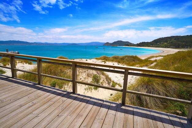 Praia de rodas-strand in het eiland van islas cies vigo spanje