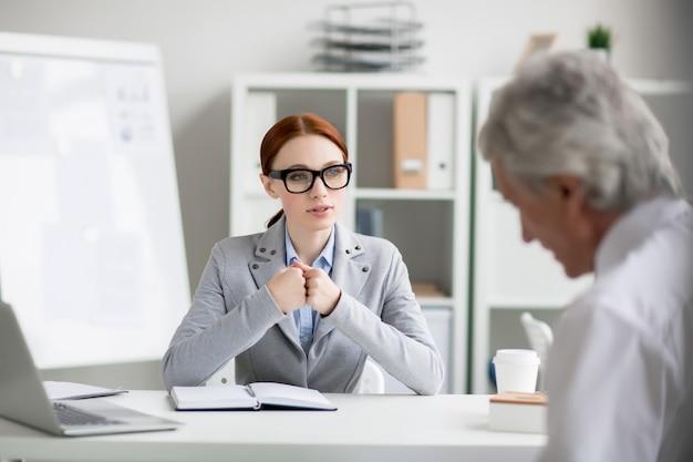 Praten met baas
