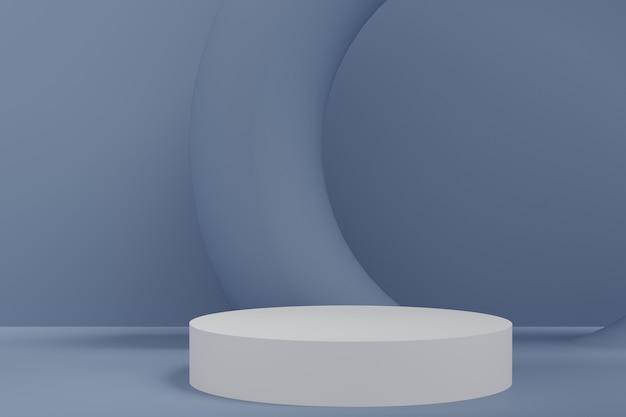 Premium minimale podiumstudio-achtergrond voor productweergave. abstracte achtergrond scène 3d render voor product adverteren.