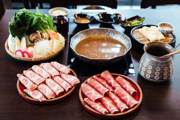 Premium rare slices kurobuta-varkensvlees