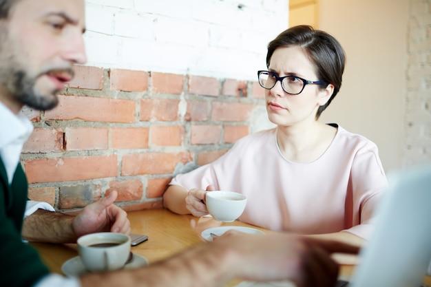 Presentatie tijdens koffiepauze