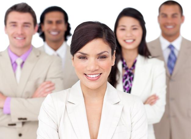 Presentatie van een concurrerend commercieel team